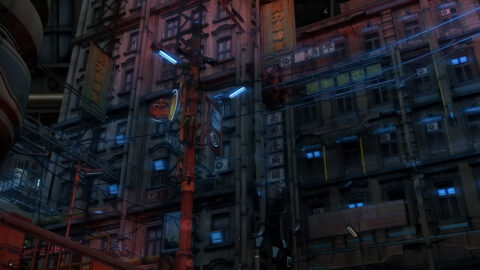サイバーパンク、近未来SFの街の外観背景素材を21枚追加しました。