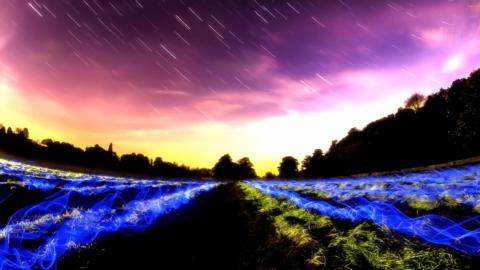 【無料ボカロ音楽素材】星空をイメージしたボカロ・バラード、初音ミク・アペンド「流れ星に祈りの詩を」